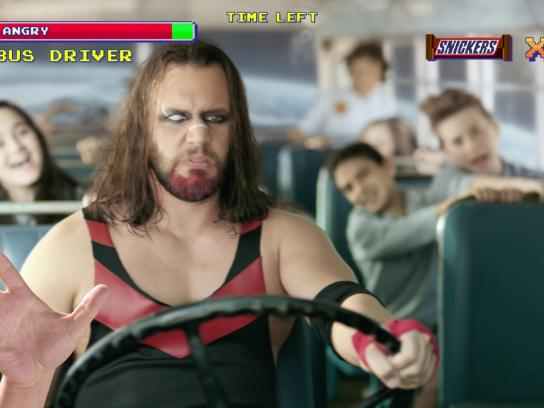 "Snickers Digital Ad - ""Wrestler"" video game"