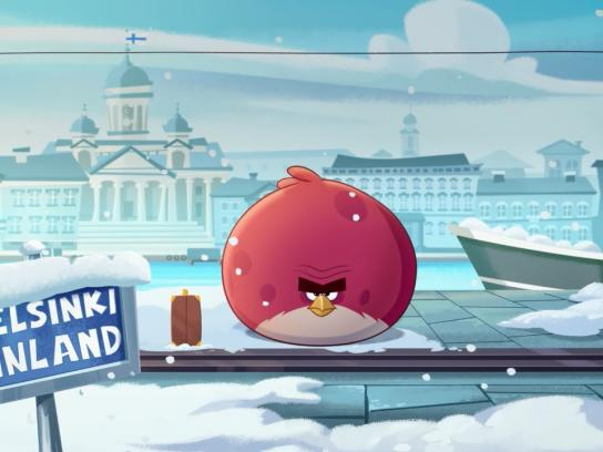 Angry Birds Digital Ad -  Terence flies north for the holidays