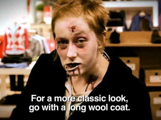 Sears Film Ad -  Zombie Outerwear Fashion Trends