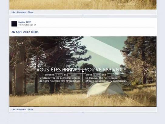 Quechua Digital Ad -  Facebook timeline