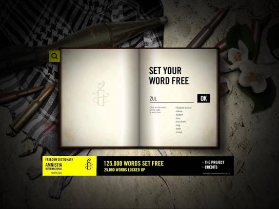 Amnesty International Digital Ad -  Freedom Dictionary