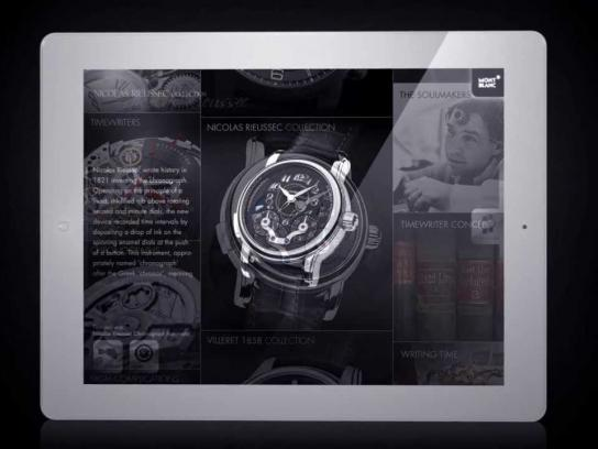 Montblanc Digital Ad -  Timepieces iPad App