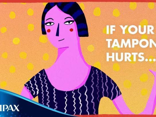 Tampax Content Ad - Adios tampon pain