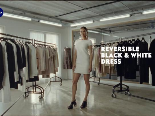 Nivea Film Ad - Reversible Black & White Dress