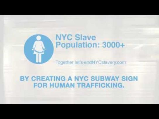 Human Trafficking Outdoor Ad - #endNYCSlavery