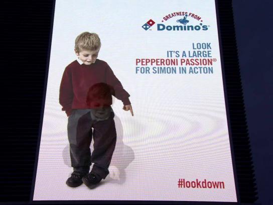 Domino's Pizza Outdoor Ad -  #Lookdown