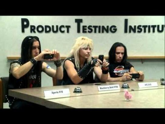Sony Ericsson Film Ad -  Product Testing Institute, Glam Rockers