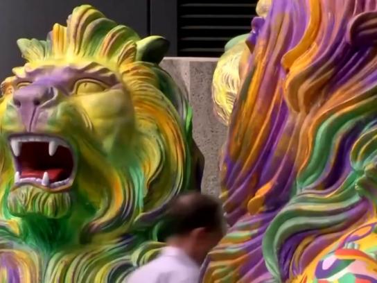 HSBC Ambient Ad - Rainbow Lions