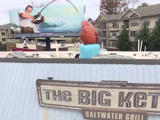 The Big Ketch Outdoor Ad -  Roof top fish
