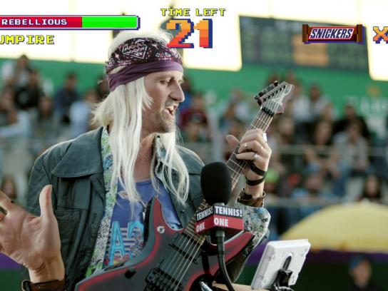 "Snickers Digital Ad - ""Rockstar"" video game"