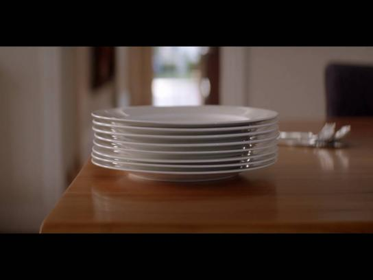 Myer Film Ad - Give registry - plates