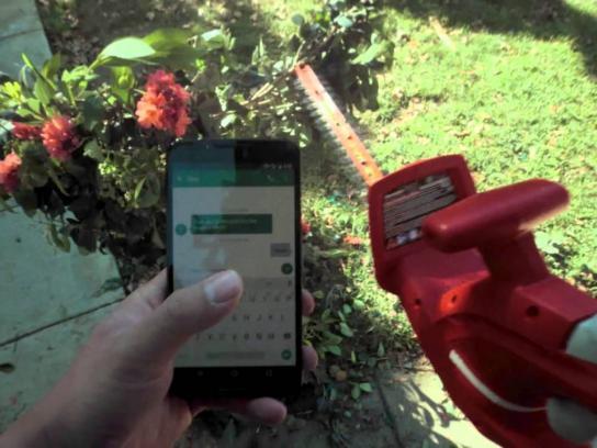 Honda Film Ad - Texting and gardening
