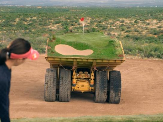 Caterpillar Digital Ad -  Built for it trials - Driving range