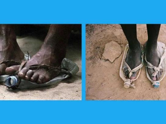 Unicef Ambient Ad -  Put yourself in their shoes