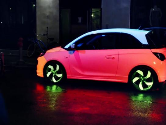 Opel Ambient Ad -  Opel Adam – The Color Changing Car