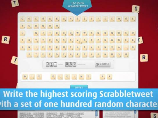 Scrabble Digital Ad -  TwitterScrabble Game