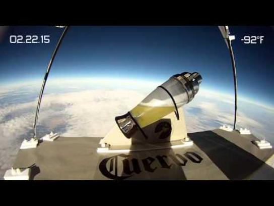 Jose Cuervo Ambient Ad -  Margaritas in space