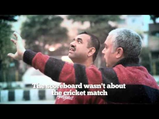 Zee News Outdoor Ad -  The misunderstood scoreboard