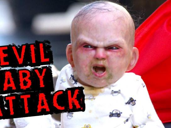 Devil's Due Ambient Ad -  Devil Baby Attack