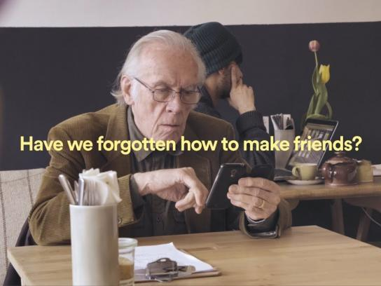 Campaign to End Loneliness Experiential Ad - Be More Us