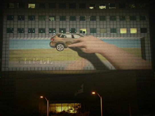 BMW Ambient Ad -  Joy interactive 3D building projection