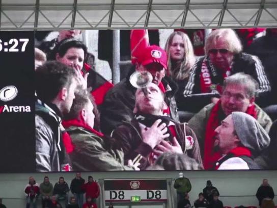 DEVK Ambient Ad -  Stadion TV Hijack
