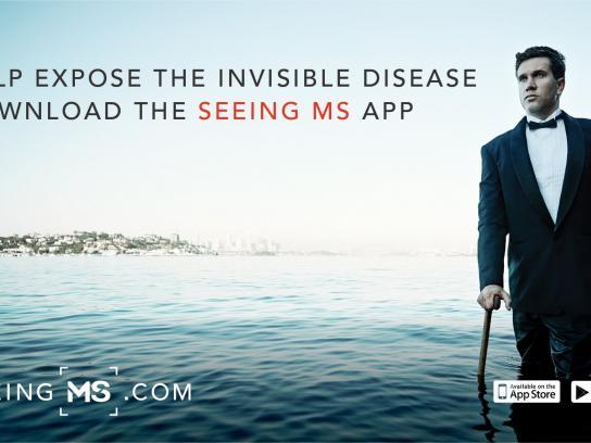 MS Australia Ambient Ad -  Seeing MS