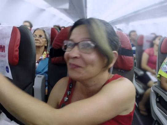 TAM Airlines Ambient Ad -  Family Safety Instructions