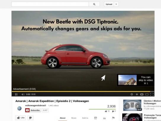 Volkswagen Digital Ad -  Automatic skip ad