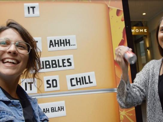 Fanta Experiential Ad - Pedestrians create fun messages for a free Jelly Fizz