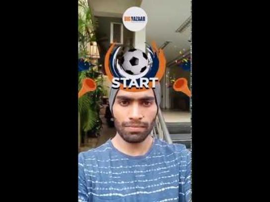 Big Bazaar Digital Ad - Facebook AR Soccer Header Game