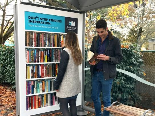 Royal Roads University Experiential Ad - Community bookshelf