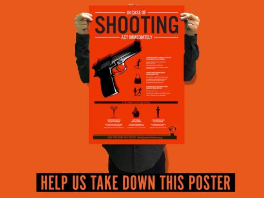 Concerned Citizens to Take Down Gun Violence Film Ad - In case of school shooting - Video