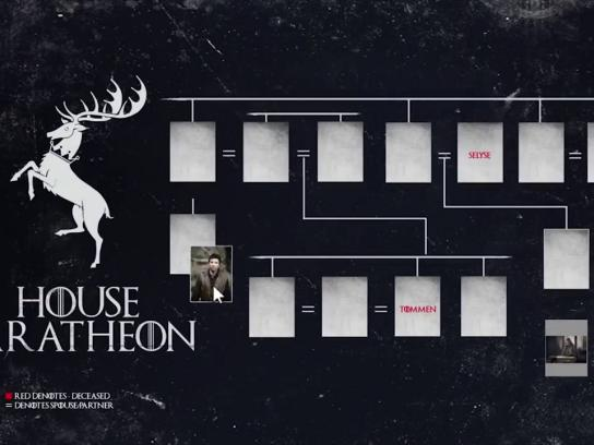 Newsfeed SmartApps Digital Ad - Interactive Facebook post for Game of Thrones