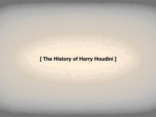 Quercus Books Film Ad -  Houdini