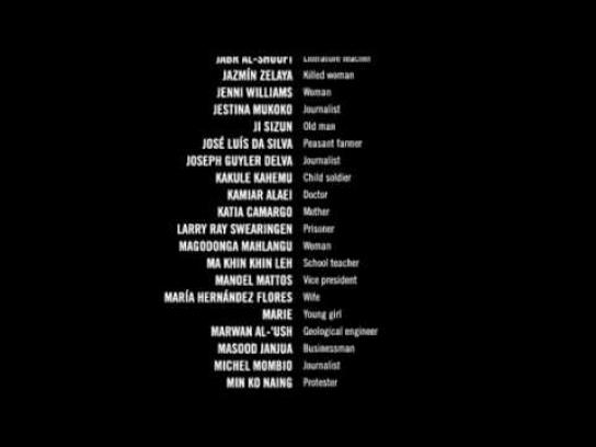 Amnesty International Film Ad -  Credits
