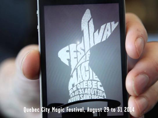 Quebec city magic festival Ambient Ad -  Magic poster