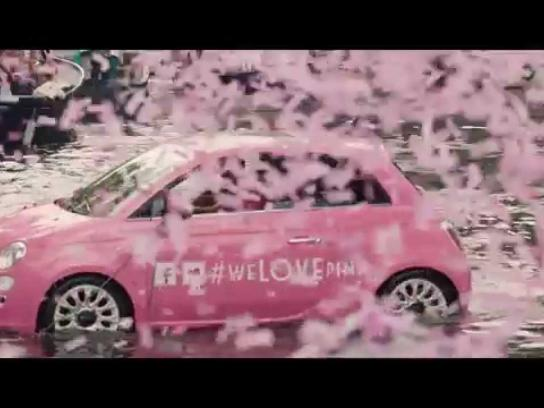 Fiat Ambient Ad -  We love pink