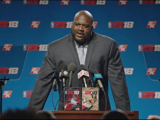 2K Sports Film Ad - Shaq's Press Conference