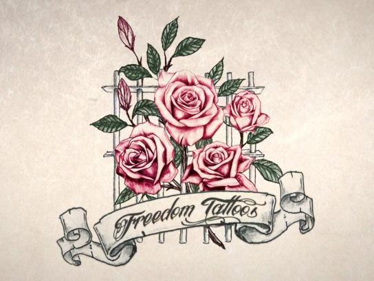 Pedagogium Ambient Ad -  Freedom Tattoos
