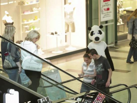 WWF Ambient Ad -  Pandas in the mall