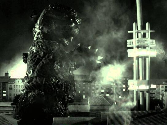 Aero Cinema Film Ad -  Godzilla