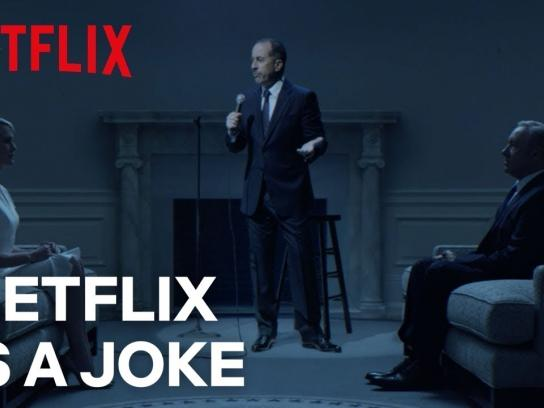 Netflix Film Ad - Seinfeld Performs For Frank And Claire