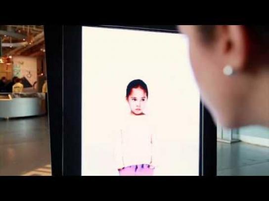 Ad Council Outdoor Ad -  Eye Contact Installation