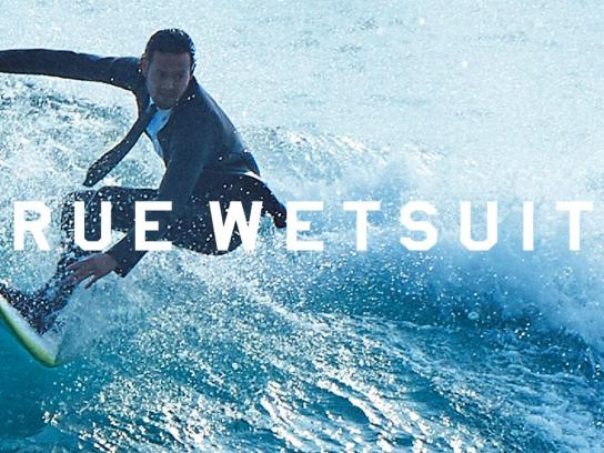 Quiksilver Digital Ad -  True wetsuits