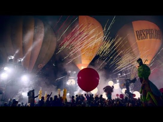 Desperados Experiential Ad - Hot Air Balloon Electronic Light Orchestra at Skyfest