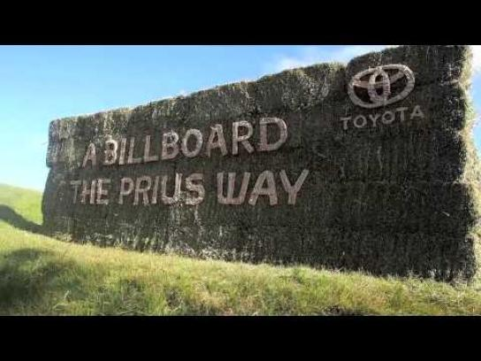 Toyota Outdoor Ad -  The billboards that came from nature and went back to nature