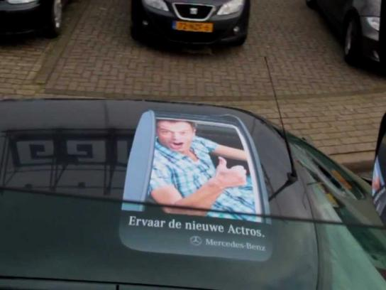 Mercedes Ambient Ad -  Rooftop Stickers