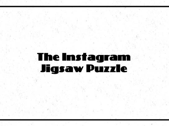 Toronto Silent Film Festival Digital Ad - Instagram Jigsaw Puzzle