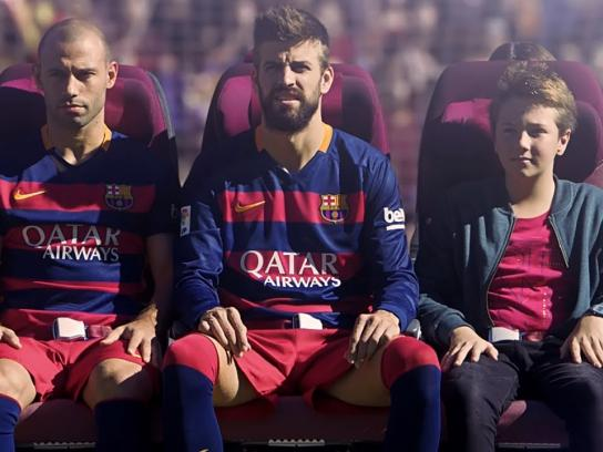 Qatar Airways Digital Ad -  Safety with FC Barcelona